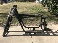1986 BMW r100s frame with front forks and title IMG_8977.JPG