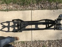 1986 BMW r100s frame with front forks and title IMG_8980.JPG