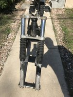 1986 BMW r100s frame with front forks and title IMG_8983.JPG