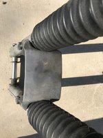 1986 BMW r100s frame with front forks and title IMG_8984.JPG