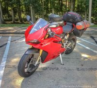 Ducati Pregnigale - Loaded up - Tail of the Dragon trip - 14 July 2017.jpg