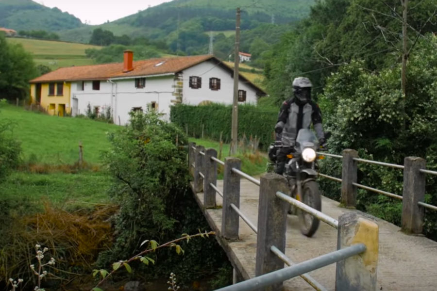 Royal Enfield Himalayan in Basque country -- image courtesy of MotoGeo