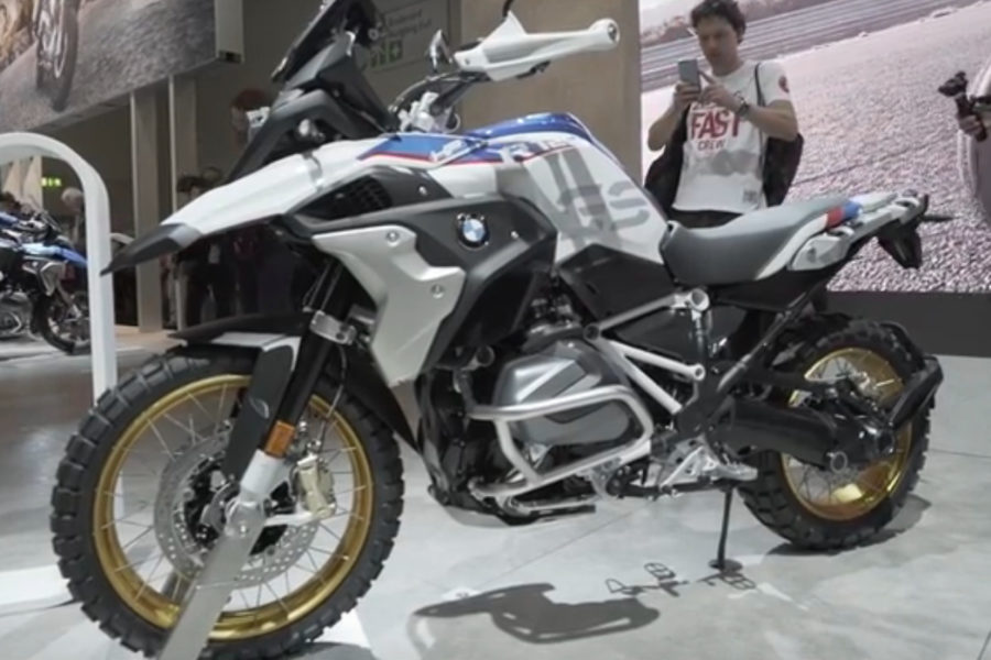 2019 BMW R 1250 GS at Intermot -- image courtesy of DriveMag Riders