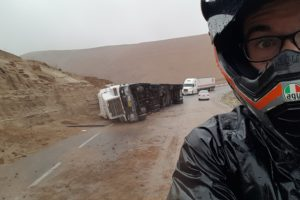 Truck drivers sometimes are too daring in South America