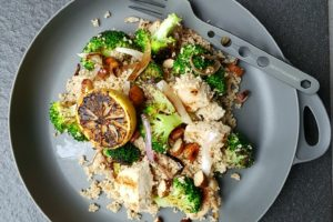Grilled Chicken, Broccoli and Lemon Couscous