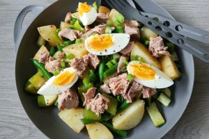 Green Potato and Tuna Salad