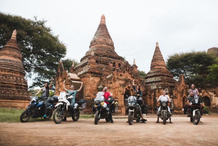 The group at Bagan, Yangon, Myanmar