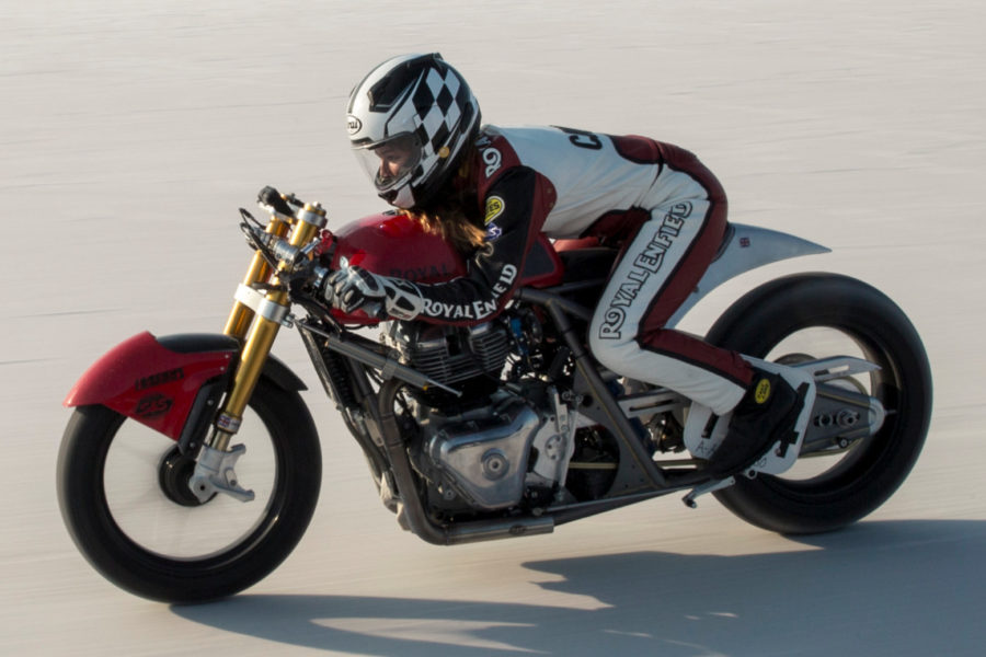Modified Royal Enfield Continental GT 650 at Bonneville -- image courtesy of Royal Enfield