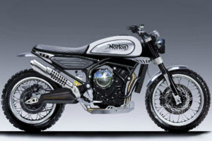 Prototype images of Norton 650 Scrambler -- images courtesy of Norton