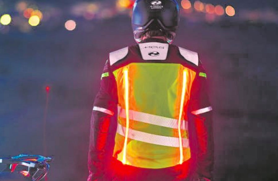 Held Flashlight LED vest -- photo courtesy of Held