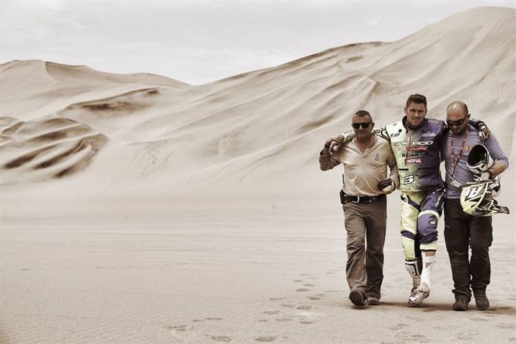 Injured rider Dakar
