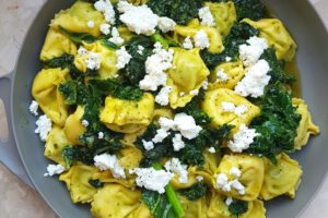 Ravioli with Pesto and Goats Cheese
