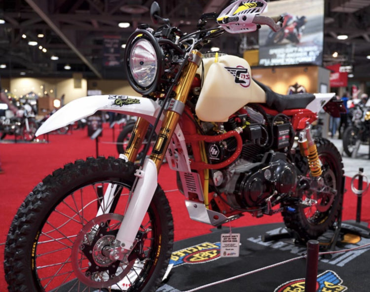 A modified Harley Sportster will ride to Baja, race, then