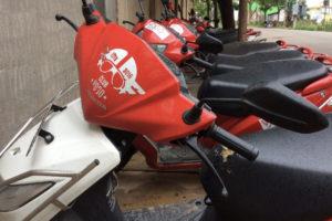 Vogo ready for riders -- image courtesy of Vogo