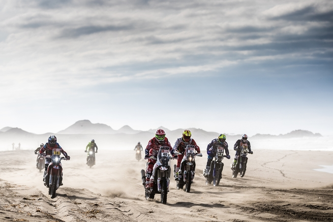 Dakar Rally motorcycle mass start