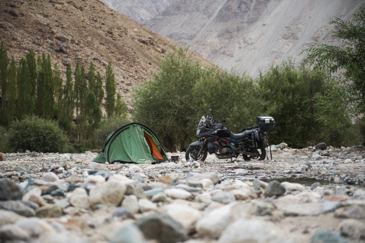 Wild camping at Nubra valley, India