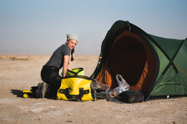 Camping in the desert, Iran