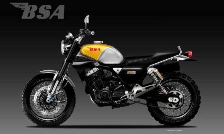 Conceptual rendering BSA motorcycle