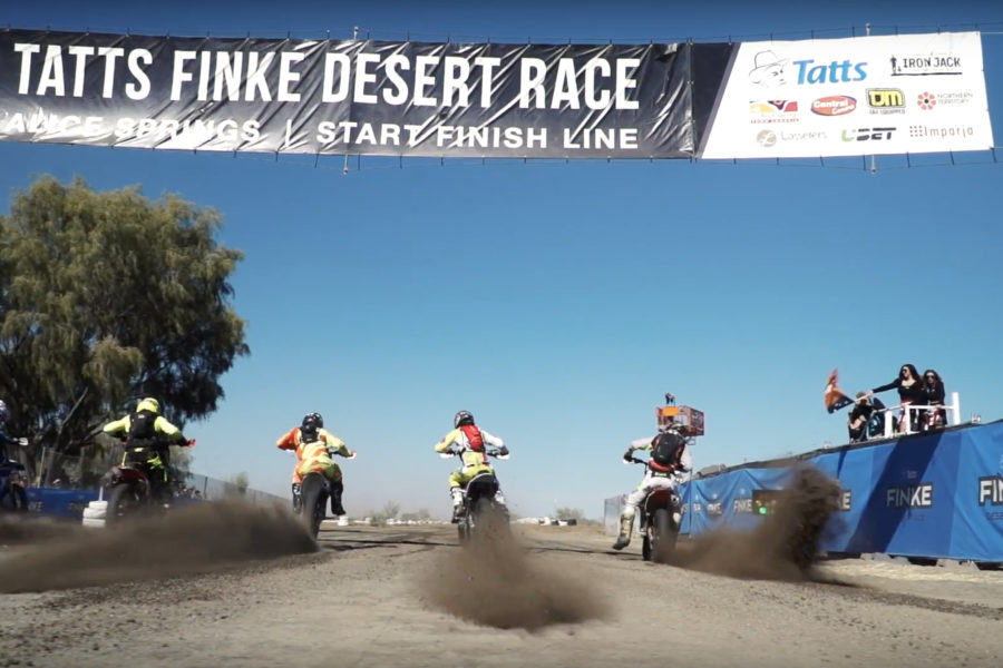 Starting line for the 2018 Finke -- image courtesy of Tatts Finke Desert Race