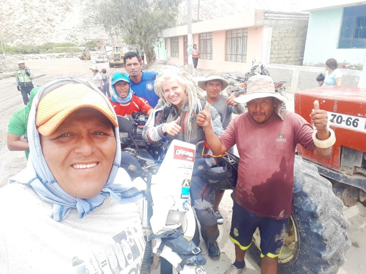 Rainy Season in Peru: Getting A Ride In An Excavator www.advrider.com