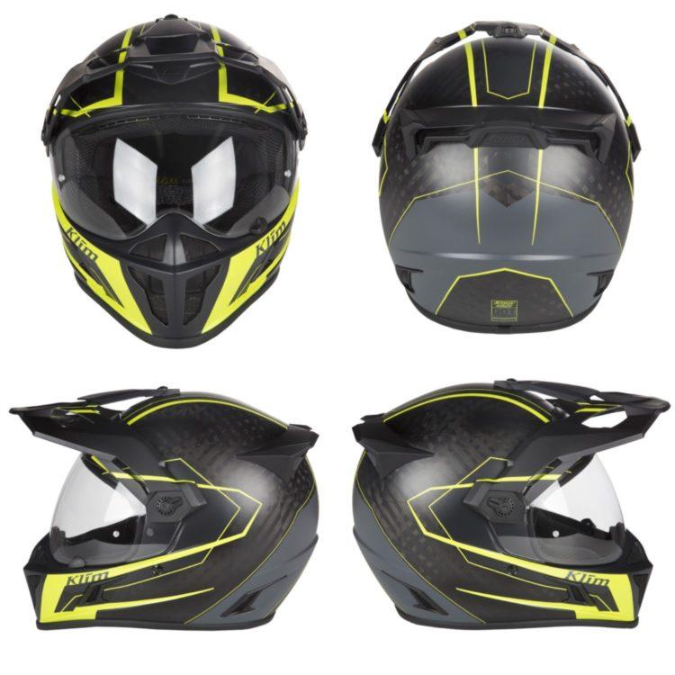 4-way view KLIM Krios Karbon Vanquish helmet.