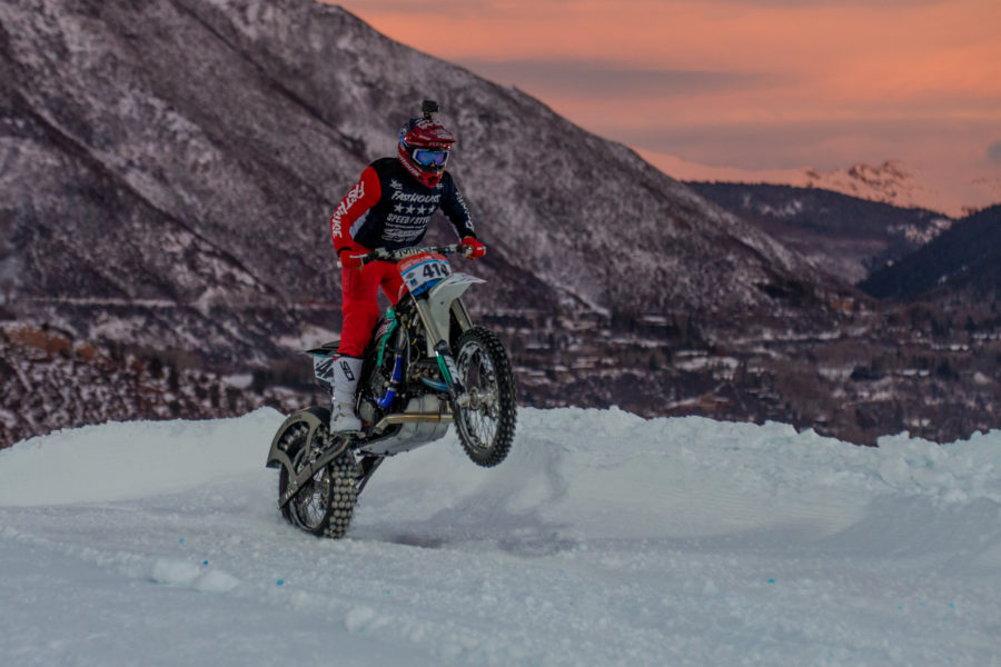 Aspen, CO - January 27, 2019 - Buttermilk Mountain: Logan Mead competing in Harley-Davidson Snow Hill Climb during X Games Aspen 2019 (Photo by Matt Morning / ESPN Images)