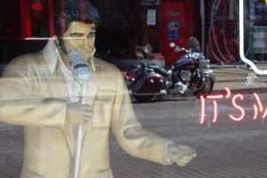 On Beale Street in Memphis, Elvis lives on - even if it's just as a dummy.