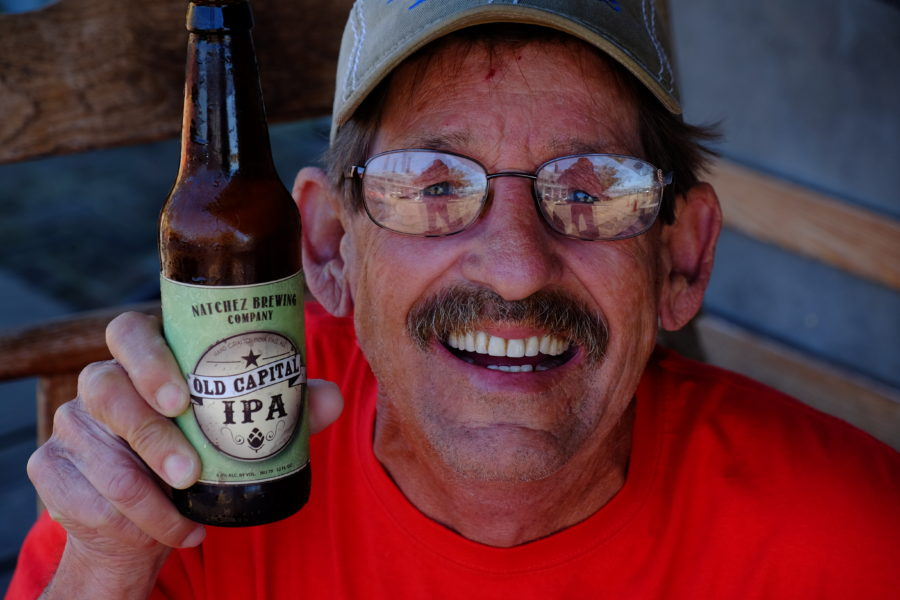 That's my buddy Roy holding my beer - he drinks White Russians himself.