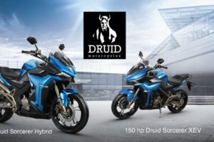 Druid hybrid electric motorcycle