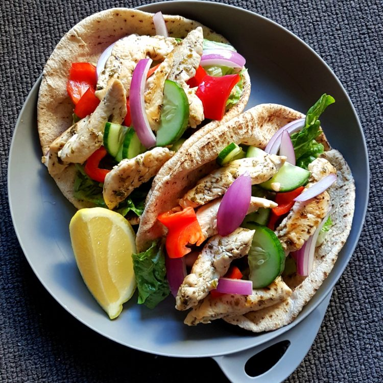 Greek Style Chicken Pita's