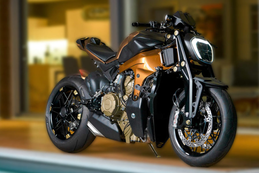 Officine GP Design came up with this naked V-4 custom. Could it be an […]