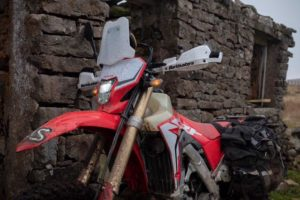 The Adventure Spec bits put the HondaC CRF450L into adv bike territory. Photo: Adventure Spec/Facebook