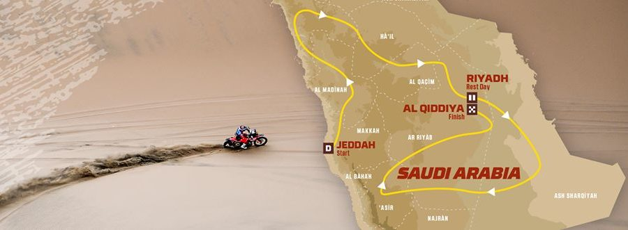 Here's the rough route for the 2020 Dakar.