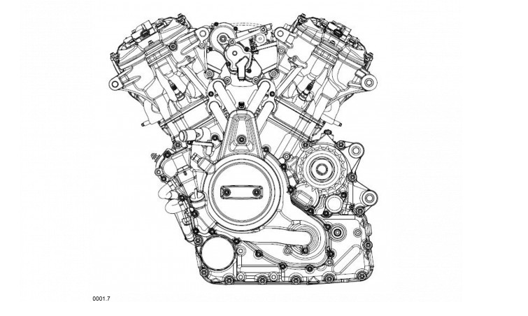 Here's a good look at what the Pan America's engine will look like.