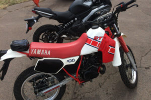 """Kind of a """"KLR meets two-stroke engine"""" vibe."""