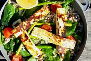 Haloumi Quinoa Salad with Lemon Honey Dressing