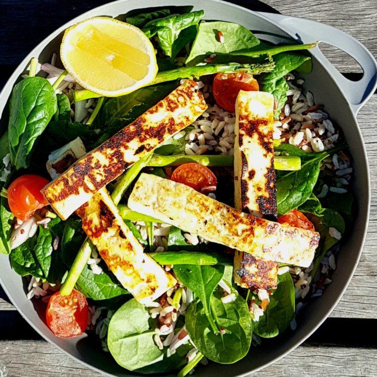 Haloumi Quinoa Salad with Lemon Honey Dressing