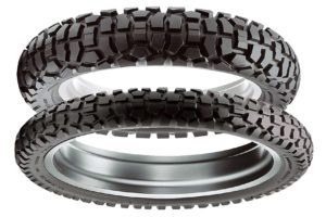 The Dunlop D605 front and rear set.