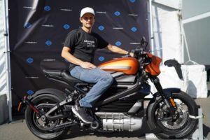 Baldy gets his hands on Harley Davidson's new electric LiveWire motorcycle.