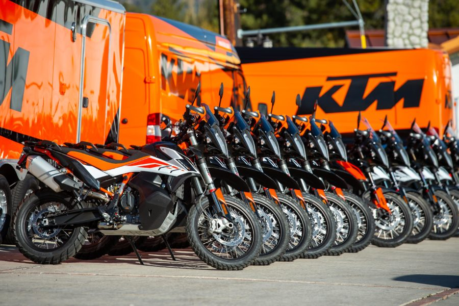 Demo a 790 at this year's KTM Adventure Rally, if you're interested. Photo: KTM