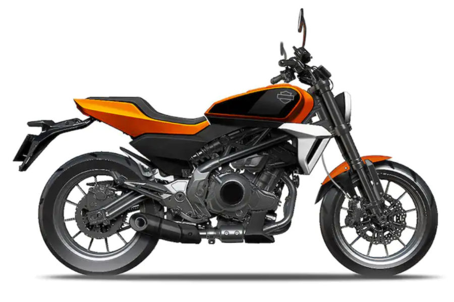 An artist's rendering of the new 338cc Harley.  Photo credit: Harley-Davidson