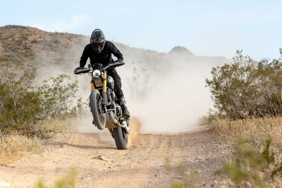 Ernie Vigil hopes to tackle the Baja 1000 next. Photo: Triumph