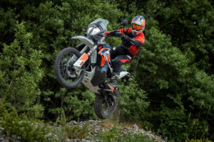 The KTM 790 Adventure Rally is made for racing, but also touring to the start line. Photo: KTM