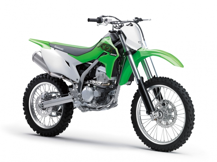 The Kawasaki KLX300R is roughly the same as the old model, but with EFI and electric start. Photo: Kawasaki