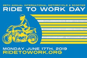 Monday is worldwide Ride To Work Day.  Image credit: Ride To Work