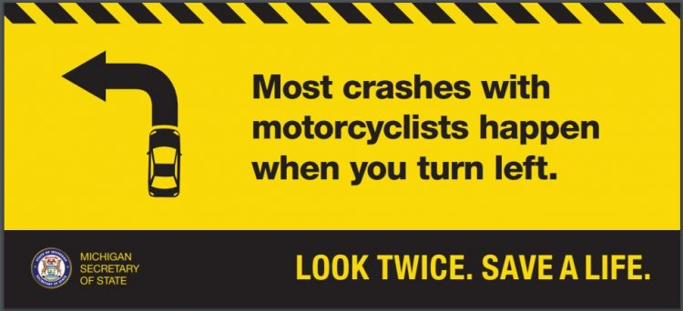 Michigan car training motorcyclist