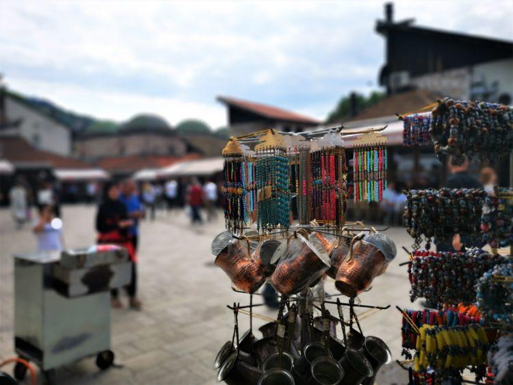 Sarajevo street market. Image: yours truly