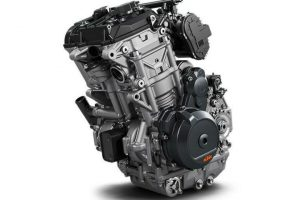 Supposedly, KTM is working on an upgraded version of this 790 engine, to drop into a Duke chassis. Photo: KTM