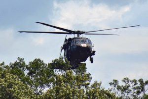 """""""At one point, a Blackhawk blew down a tree that blocked a trail."""""""