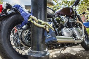 Motorcycle locked